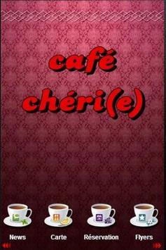 CAFE CHERI(E) poster