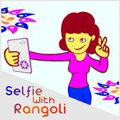 selfie with rangoli icon