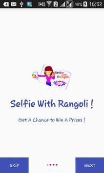 selfie with rangoli poster
