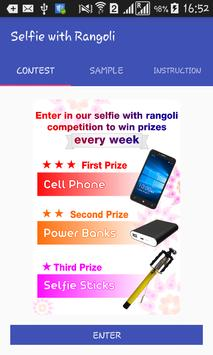 selfie with rangoli apk screenshot
