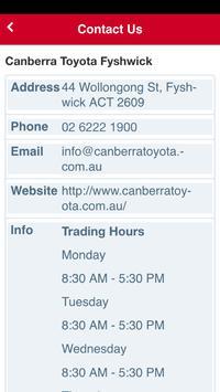 Canberra Toyota apk screenshot
