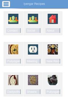 Iyengar Recipes apk screenshot