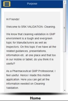 SRK Cleaning Validation apk screenshot