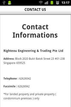 Righteous Engineering apk screenshot