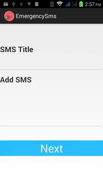Emergency SMS apk screenshot