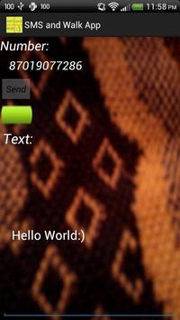 SMS and Walk :) apk screenshot