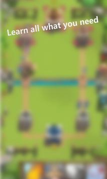 Guide for Clash Royale maps poster