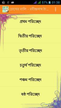 চোখের বালি Chokher Bali Novel poster