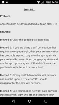 Error Codes & Fixes apk screenshot