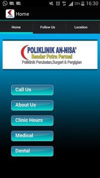 Poliklinik An-Nisa S Kembangan poster