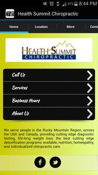 Health Summit Chiropractic poster