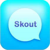 Messenger chat and Skout talk icon
