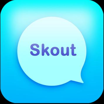 Messenger chat and Skout talk poster