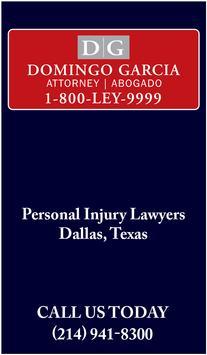 Domingo Garcia Law Injury App poster