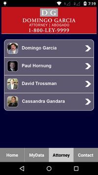 Domingo Garcia Law Injury App apk screenshot