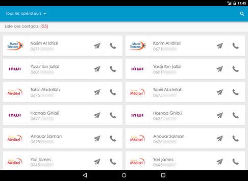 Name Opérateur Contact Maroc apk screenshot