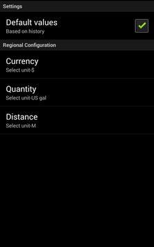 Fuel consumption apk screenshot