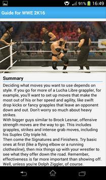 Guide for WWE 2K16 GamePlay apk screenshot