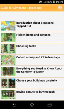 Guide for Simpsons Tapped Out apk screenshot