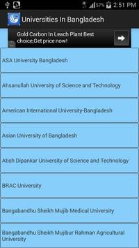 University of Bangladesh poster