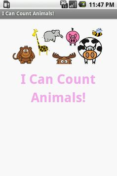 I Can Count Animals poster
