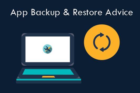 Apps Backup & Restore Advice apk screenshot