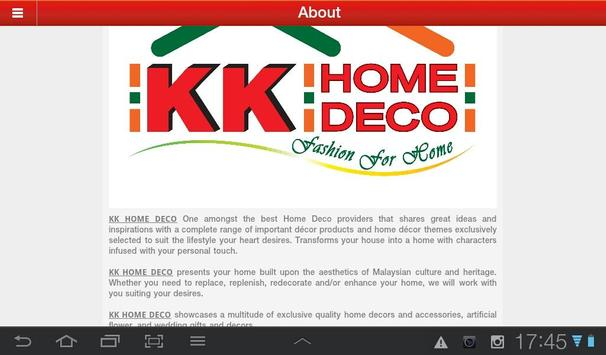 KK Home Deco apk screenshot