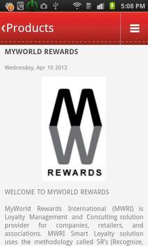 MYWORLD REWARDS poster