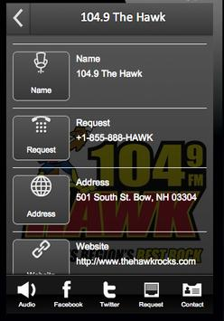 104.9 The Hawk poster