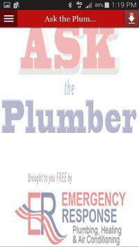 Ask the Plumber poster