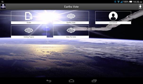 Earths Vote poster