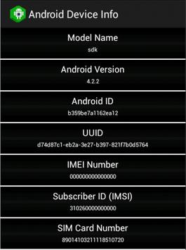 Quick Device Info/IDs apk screenshot