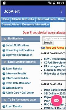 Free Job Alert - Govt and Pvt. apk screenshot