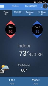 Aprilaire Wi-Fi Thermostat App poster