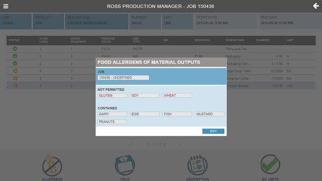 Ross Production Manager (RPM) apk screenshot