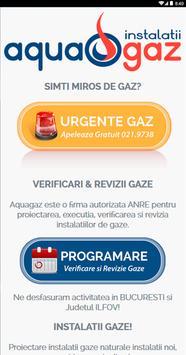 AquaGaz Verificare Revizie Gaz poster