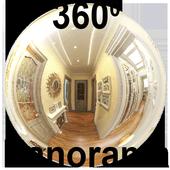Panorama 360 flats icon