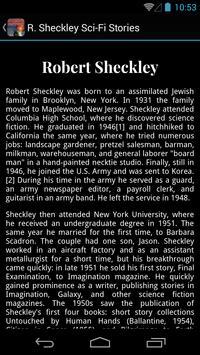 R. Sheckley Sci-Fi Stories apk screenshot
