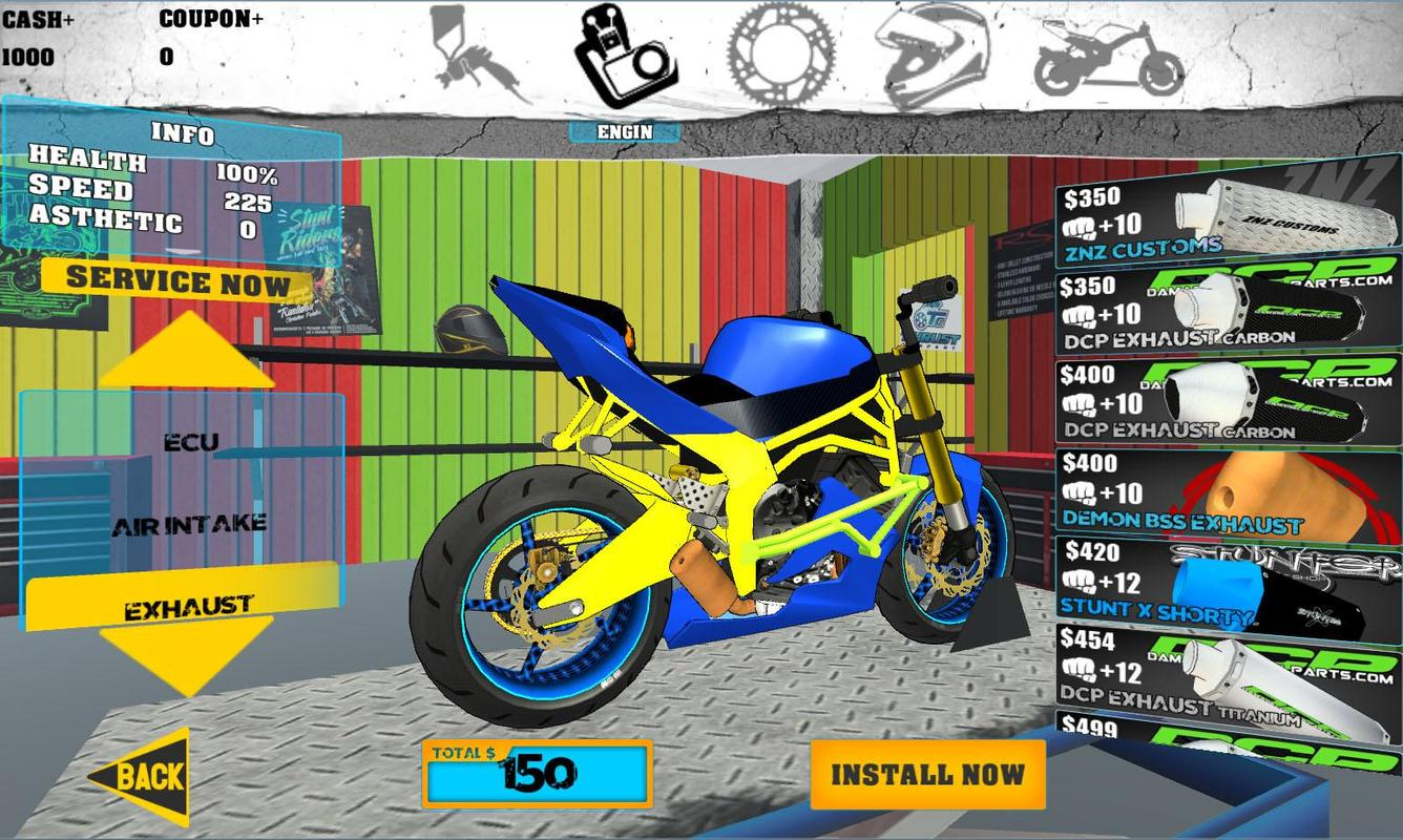 bike stunt games for android
