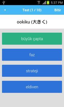 Japonca Sözlük apk screenshot