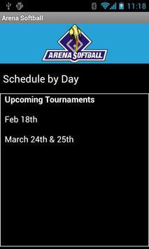 Arena Softball poster