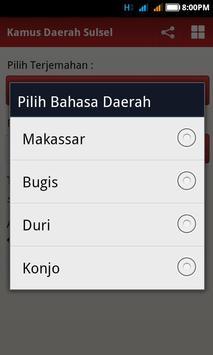 Kamus Daerah Sulsel apk screenshot
