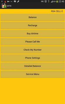Airtime Balance SA Networks apk screenshot