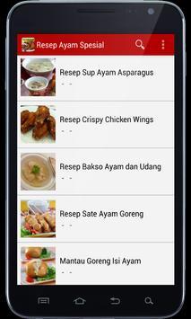 Resep Ayam Spesial apk screenshot