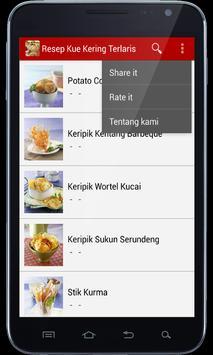 Resep Kue Kering Terlaris apk screenshot
