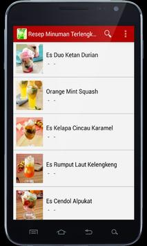 Resep Minuman Terlengkap apk screenshot