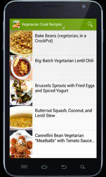 Vegetarian Cook Recipes apk screenshot