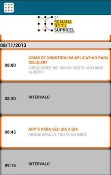Semana de TI Supricel apk screenshot