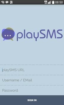 playSMS poster