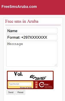 Free SMS Aruba poster